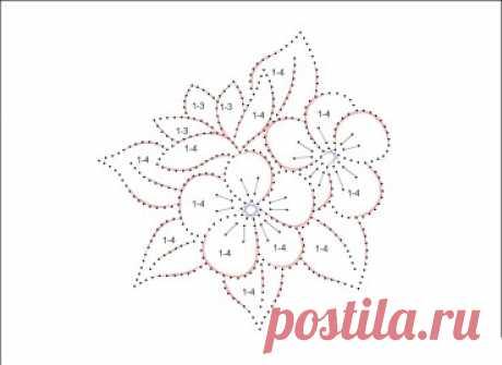 Техника изонить: схема для вышивки открытки Цветы Техника изонить: схема для вышивки открытки Цветы. Простая цветочная композиция для вышивки изонитью.