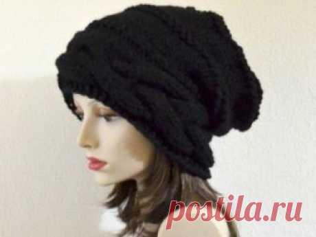 Вязание женской шапки спицами, описание