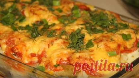 Pollock in cheese and creamy filling. Vkusnotishcha!!!