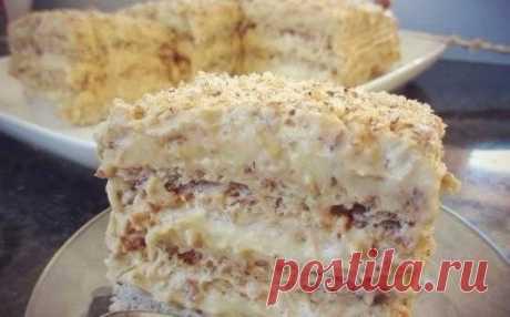 Пошаговый рецепт орехового торта «Египетский». Необычайно нежный и безумно вкусный