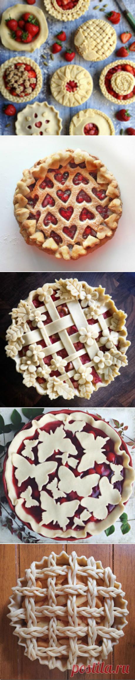 Красивые идеи оформления пирогов