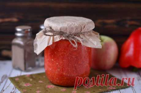 Аджика из яблок и перца на зиму: рецепт с фото пошагово
