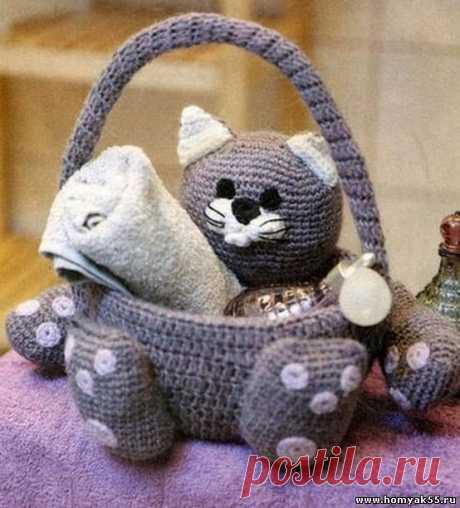 Котик -корзиночка