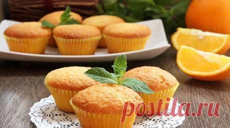 Gentle orange cupcakes - lublugotovit.me