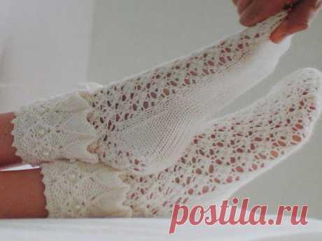Красивейшие ажурные носочки) .