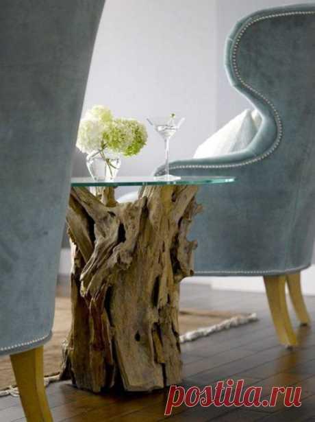 Уникальная мебель и предметы декора из натурального дерева / Я - суперпупер