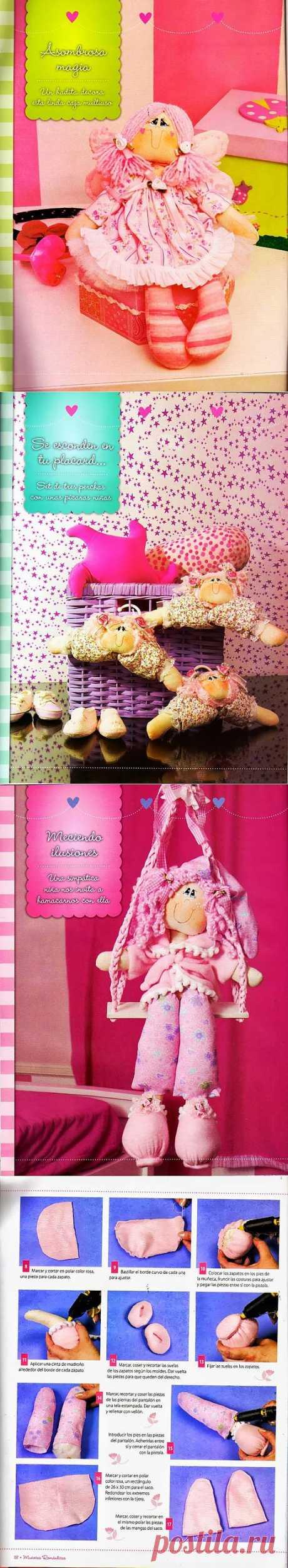 Журнал с выкройками игрушек Munecas Romanticas.