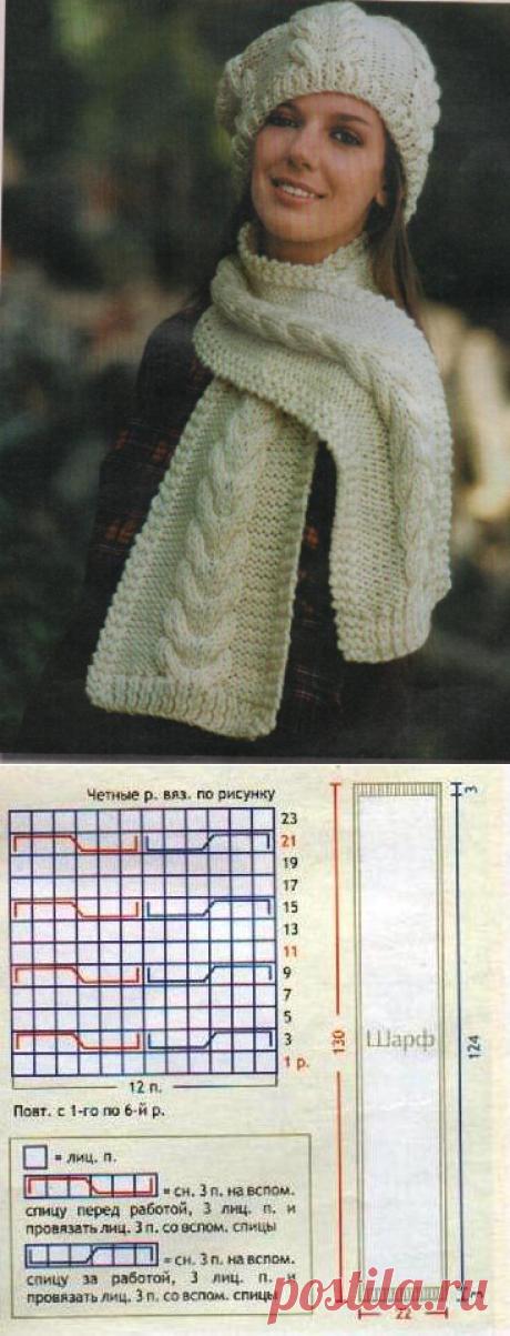 Берет и шарф | Снуд, шарф, палантин, бактус, пелерина.