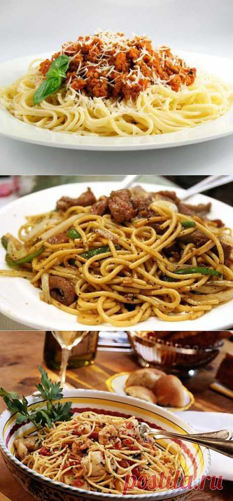 Спагетти: варианты блюда с мясом и мясными продуктами / Простые рецепты