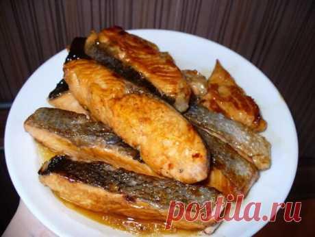 Рыбка в медово - кислом соусе.
