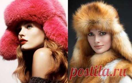 Фото красивых женских вязаных и меховых шапок - 100 фото - Меховой портал