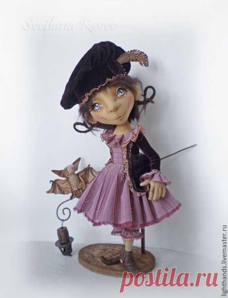 Купить Когда я буду волшебницей. Коллекционная кукла - кукла, кукла ручной работы, кукла текстильная