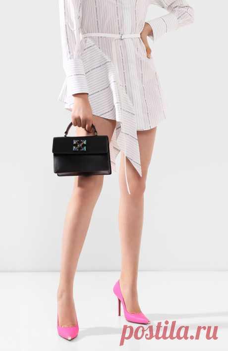 Женская черная сумка 1.4 jitney OFF-WHITE — купить за 59950 руб. в интернет-магазине ЦУМ, арт. 0WNA092R20F990681000