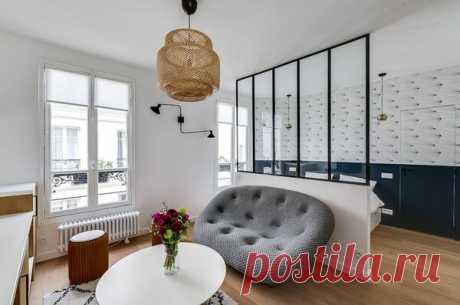 Стильный интерьер крошечной студии 25 м? со спальней: фото до и после | flqu.ru - квартирный вопрос. Блог о дизайне, ремонте