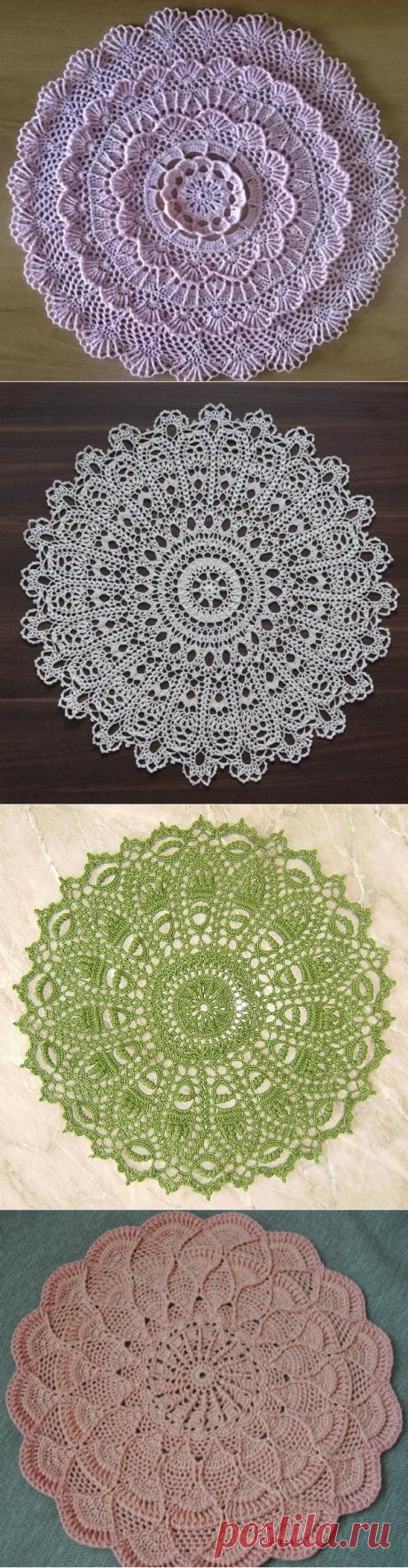 Описание вязания и схемы салфеток крючком - Crochet.Modnoe Vyazanie ru.rom