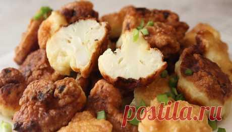 Цветная капуста в кляре: простой рецепт хрустящей закуски