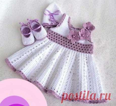 Beautiful delicate handmade crochet dress - Crochet Pattern Yarns