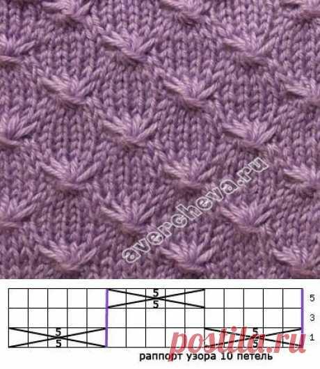 В копилку узоров: 17 новых схем для вязания спицами | Факультет рукоделия | Яндекс Дзен