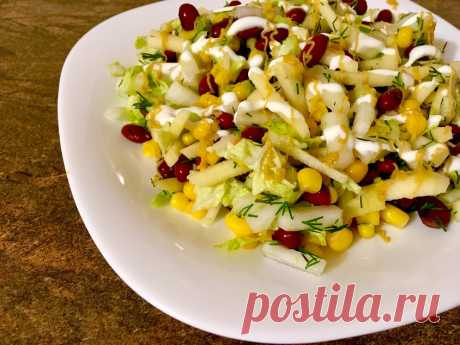 Очередной мой безумный салат. Не надо ничего варить. Практически без жиров | ХУДЕЕМ ВКУСНО! | Яндекс Дзен