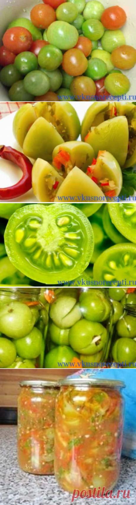 Зеленые помидоры на зиму, простые рецепты с фото