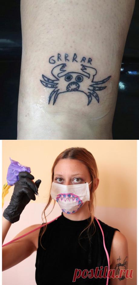 «Тату-отбросы»: девушка изБразилии неумеет рисовать, ноделает по-своему классные татуировки