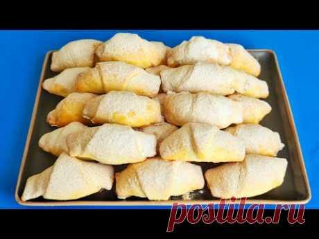 Хрустящее, нежное тесто и очень вкусная начинка! МЕГА вкусные рулетики с ореховой начинкой!