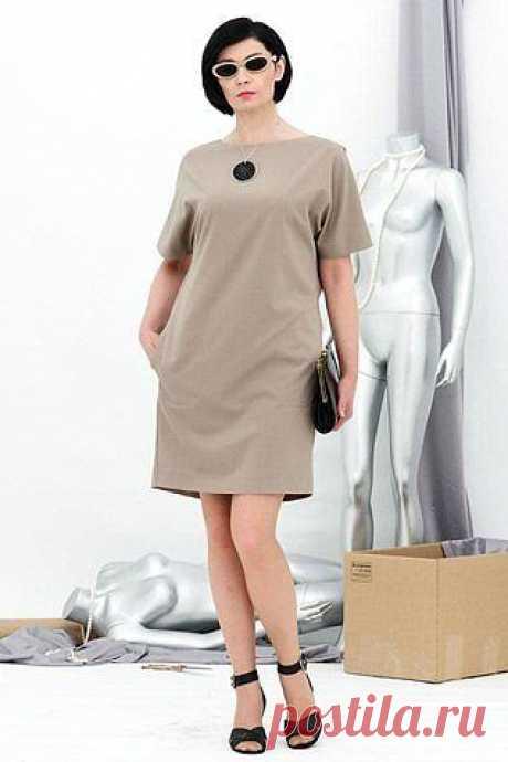 Кройка и Шитье - простые идеи и выкройки Красивое  платье с цельнокроеным рукавом