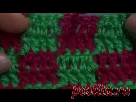Разноцветное вязание. Урок 30.
