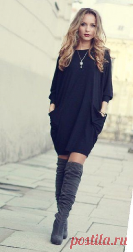 Платье-кокон удобно в носке и скрывает недостатки фигуры. | OK.RU