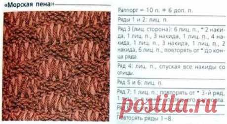 Шарф «Морская пена» (Вязание спицами и крючком) — Журнал Вдохновение Рукодельницы