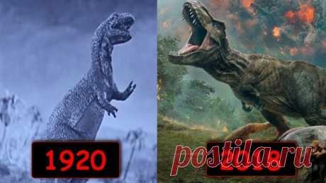 Эволюция динозавров в кино за столетие! 1920 - 2018 - Яндекс.Видео