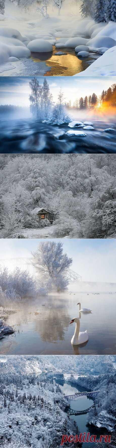 Самые красивые фотографии зимних пейзажей 2013 года..