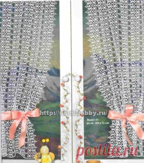 Ажурные занавески крючком (Вязание крючком) — Журнал Вдохновение Рукодельницы