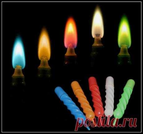 Цвет свечей для каждого дня недели...