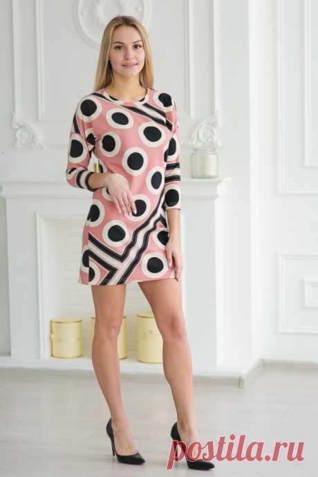 Платье трикотажное Аннелиз (розовое)