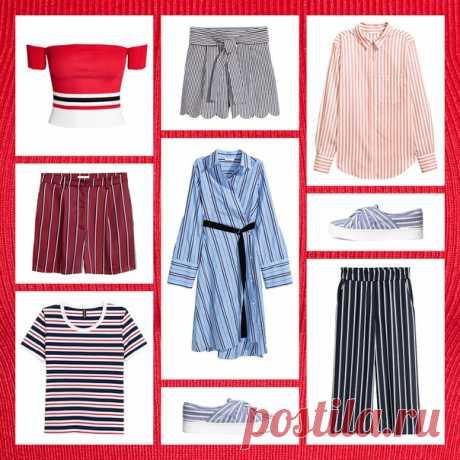 Летний тренд — модели в полоску. Познакомьтесь с нашей модной подборкой в магазинах и на hm.com #HM