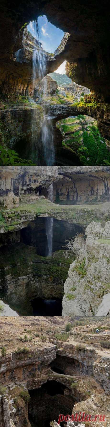(+1) тема - Фантастический водопад Баатара в Ливане | ТУРИЗМ И ОТДЫХ