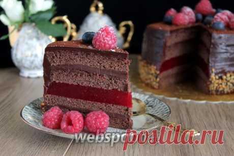Торт «Малиновый трюфель» рецепт с фото, как приготовить на Webspoon.ru