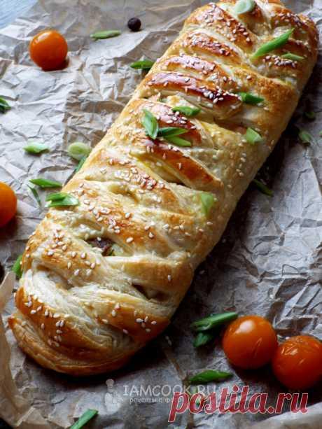 Пирог с горбушей и рисом (из слоеного теста) — рецепт с фото пошагово