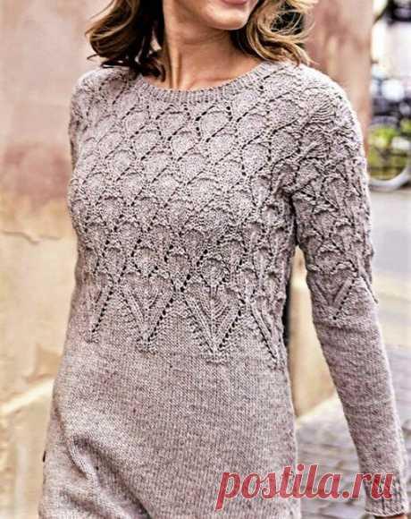 3 красивых тёплых платья спицами (с описанием и схемами) | Идеи рукоделия | Яндекс Дзен