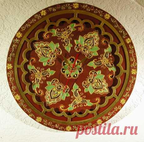 Часы в восточном стиле, диаметр 45 см