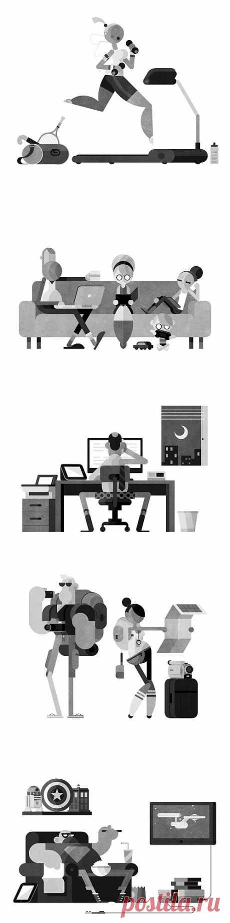 GIF анимация Робина Дэви - Графикон Арт