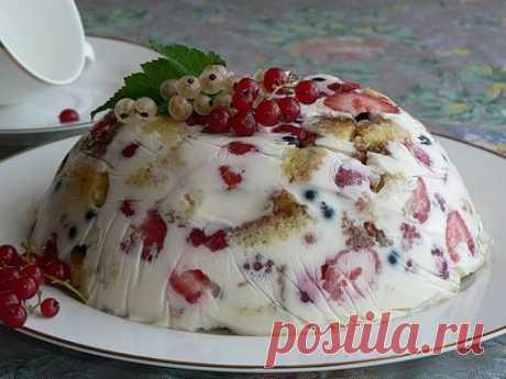 Торт-желе с фруктами