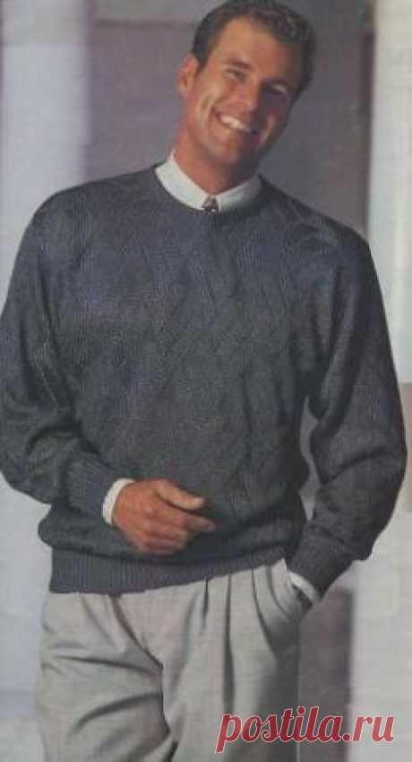 Мужской вязаный свитер | Вязание и рукоделие
