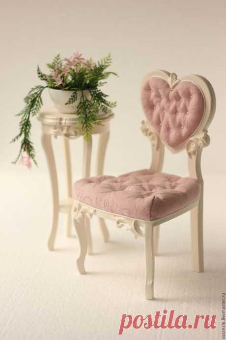 """Комплект мебели 1:4 """"... с перламутровыми пуговицами )"""" – купить в интернет-магазине на Ярмарке Мастеров с доставкой - 7JHPHRU"""