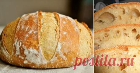 Домашний хлеб без замеса: рецепт прост как раз, два, три! Пышный, душистый, с хрустящей корочкой…