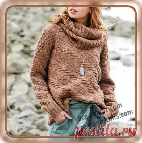 Холод, ветер - поспеши, теплый джемперок свяжи. 10 моделей новинок этого сезона спицами. | Все вяжут.сом/Everyone knits.com | Яндекс Дзен