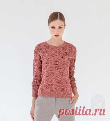 Вяжем нежный пуловер