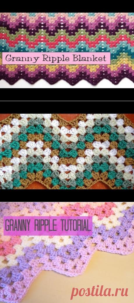 (964) Crochet for Knitters - Granny Ripple Blanket - YouTube