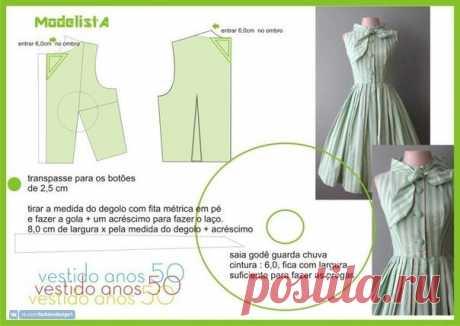Идеи летних платьев с выкройками — Сделай сам, идеи для творчества - DIY Ideas